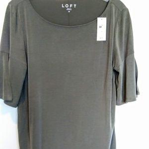 Loft Super Soft Knit Top Split Half Sleeve